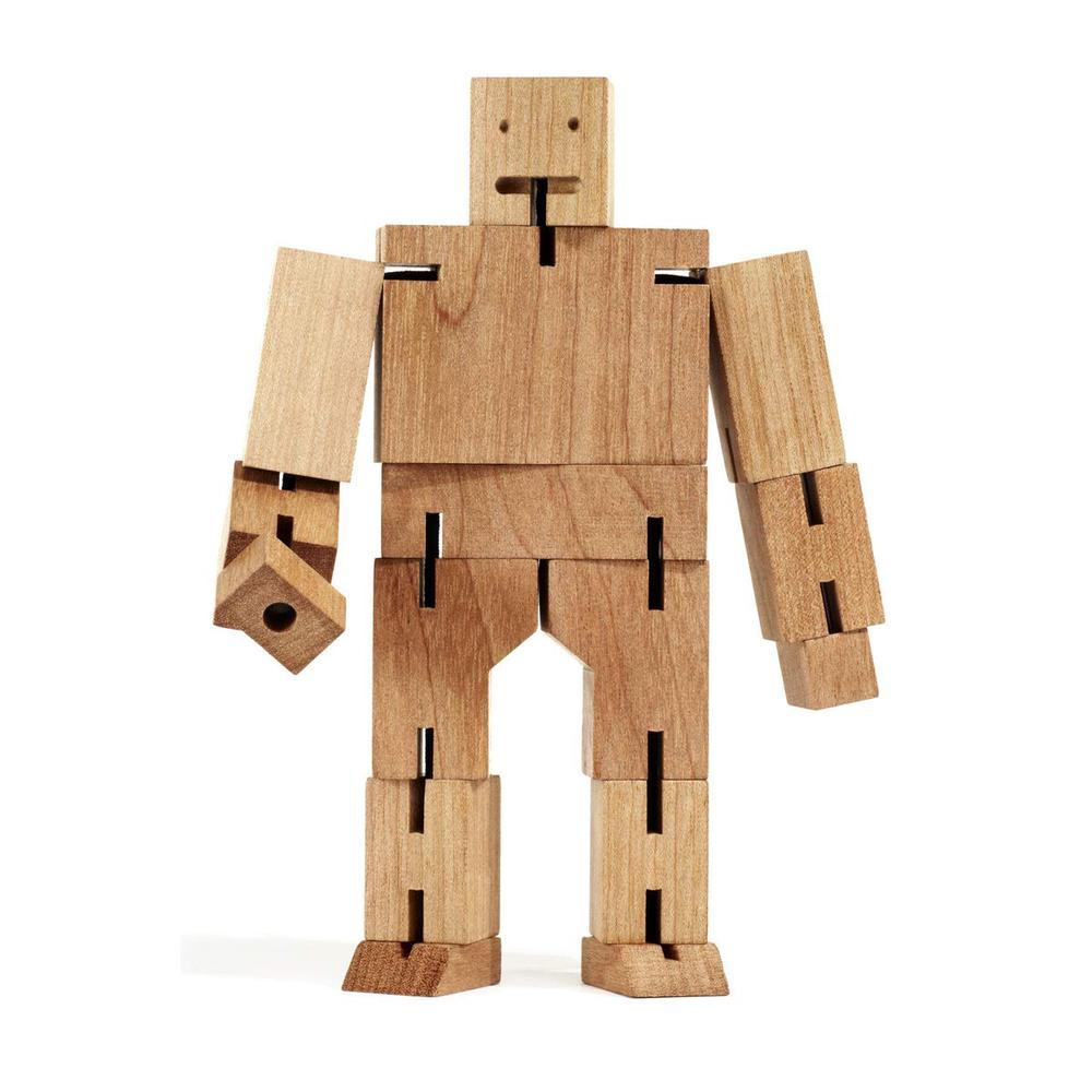 Cubebot Medium Robot Toy (Natural) - Areaware Free Shipping
