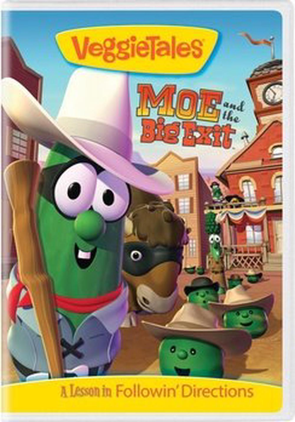 Veggie-Tales-moe-and-the-Big-Exit-DVD-Region-1-Free-Shipping
