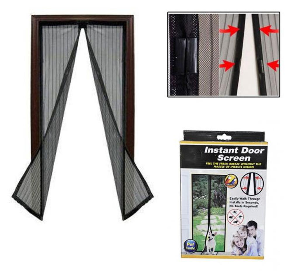Uniwide Magnetic Flyscreen Door Protector Black Free Shipping