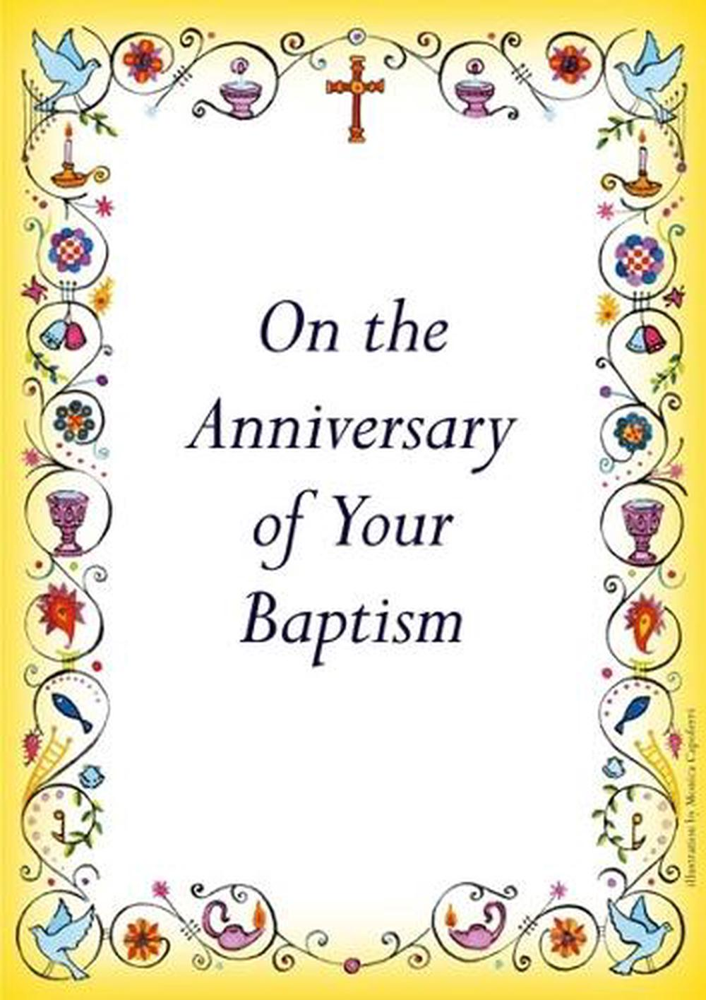 Anniversary of Baptism Card Free Shipping!