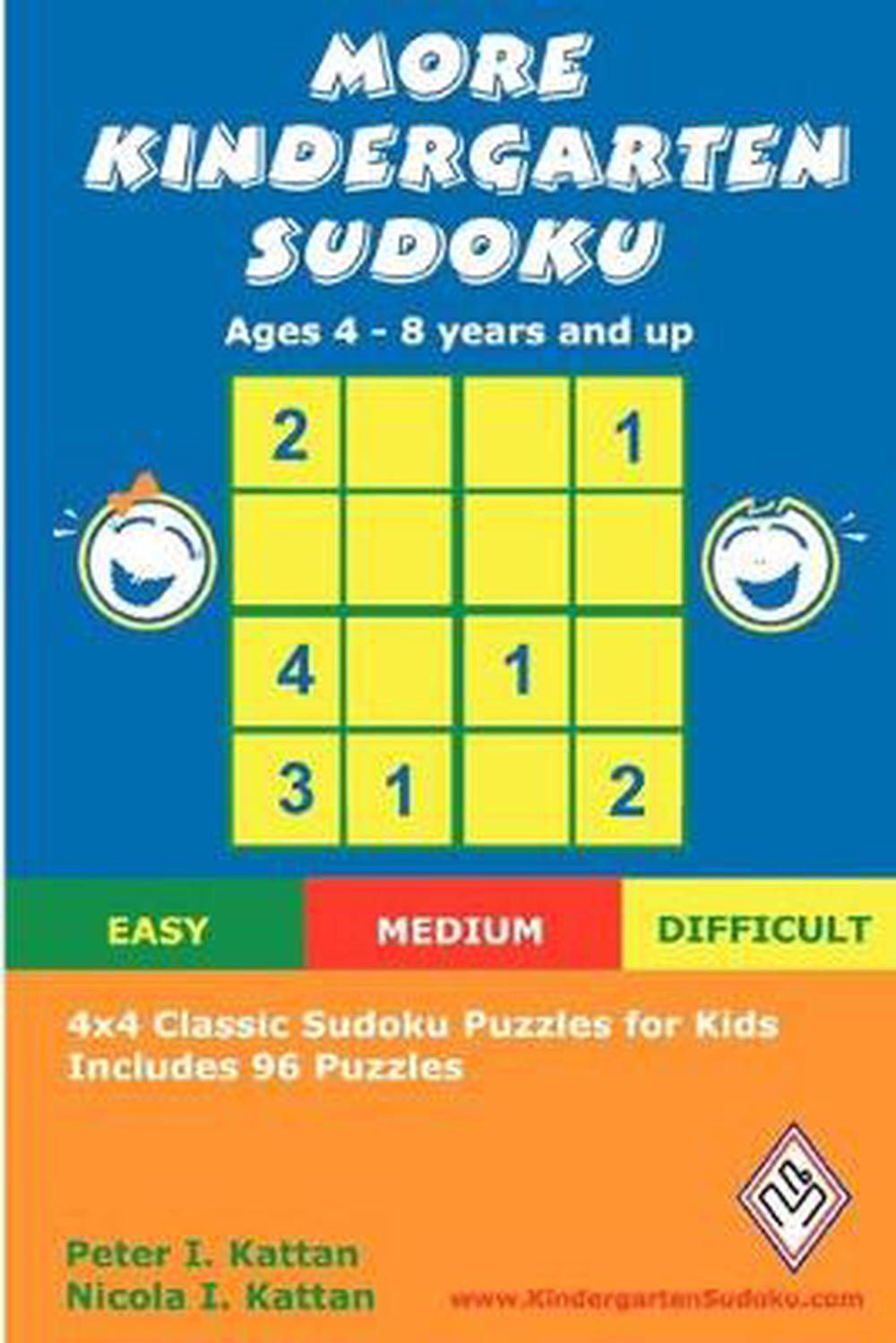 More Kindergarten Sudoku: 4x4 Classic Sudoku Puzzles for Kids by ...