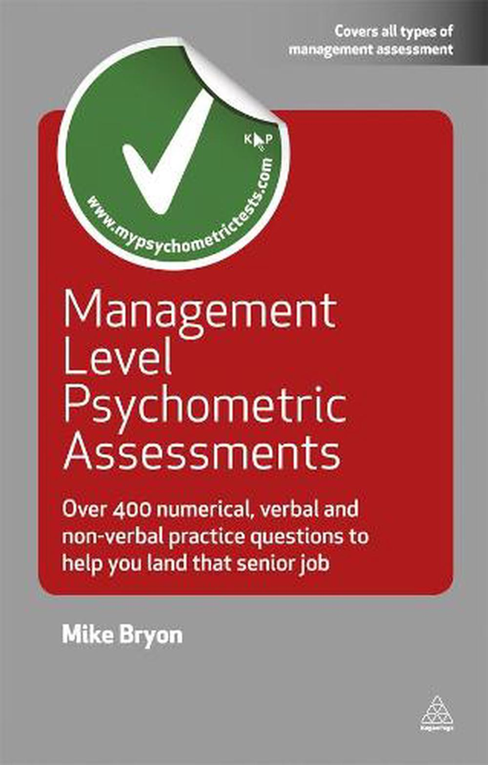 Management Level Psychometric Assessments  Over 400 Numerical  Verbal And Non