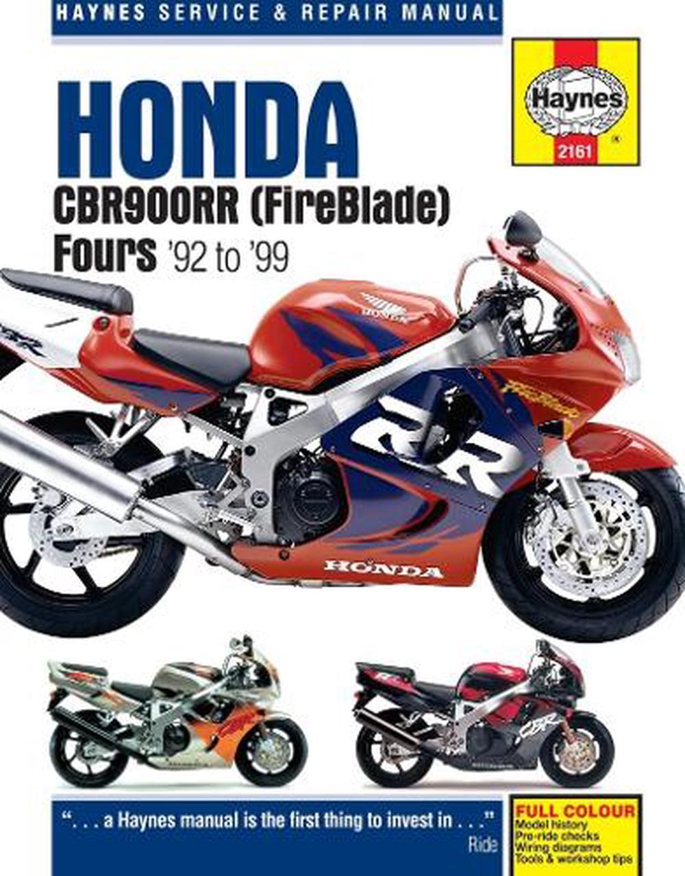 Honda Cbr900rr Service And Repair Manual By John H  Haynes