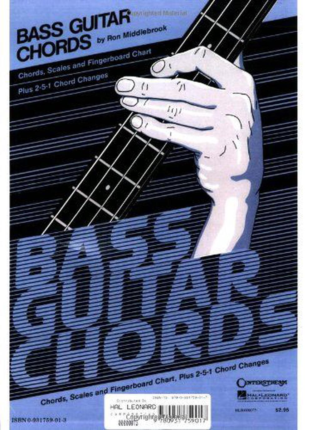 Bass Guitar Chord Chart By Ron Middlebrook English Paperback Book