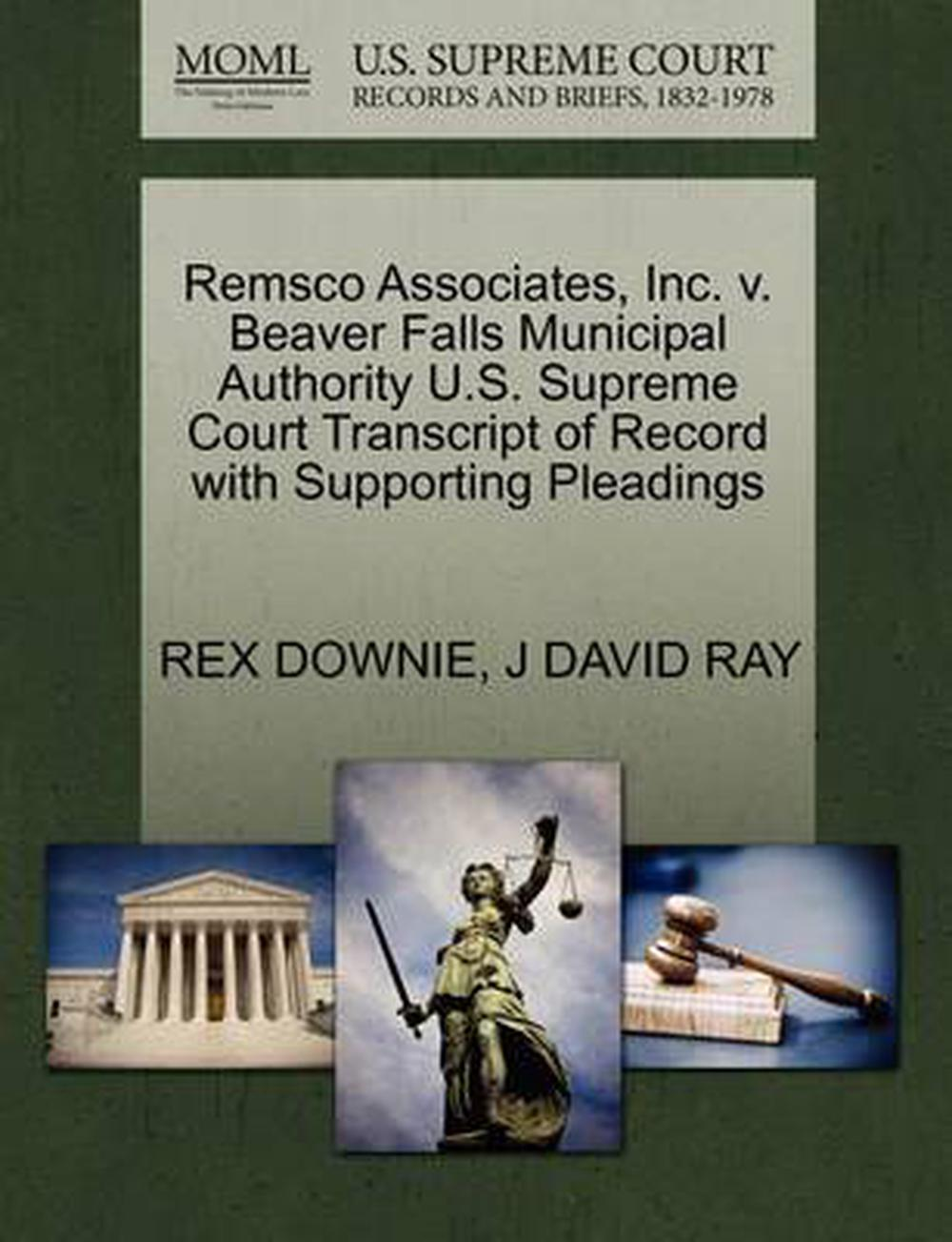 Remsco Associates Inc V Beaver Falls Municipal Authority U S Supreme Court T 9781270635628 Ebay