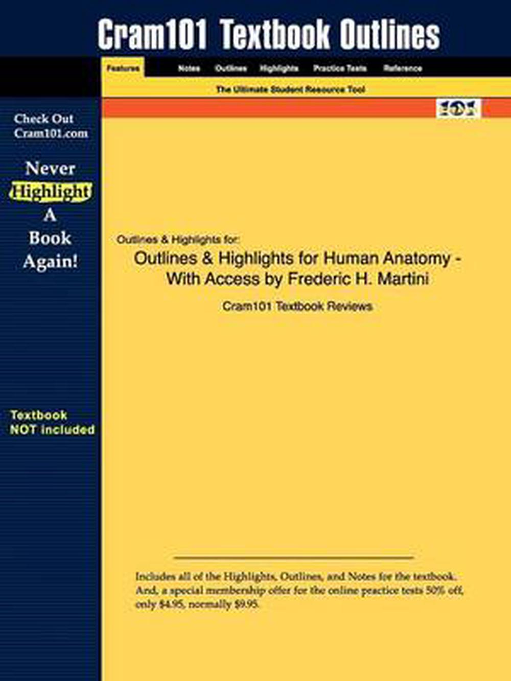 Studyguide For Human Anatomy By Martini Frederic H Isbn