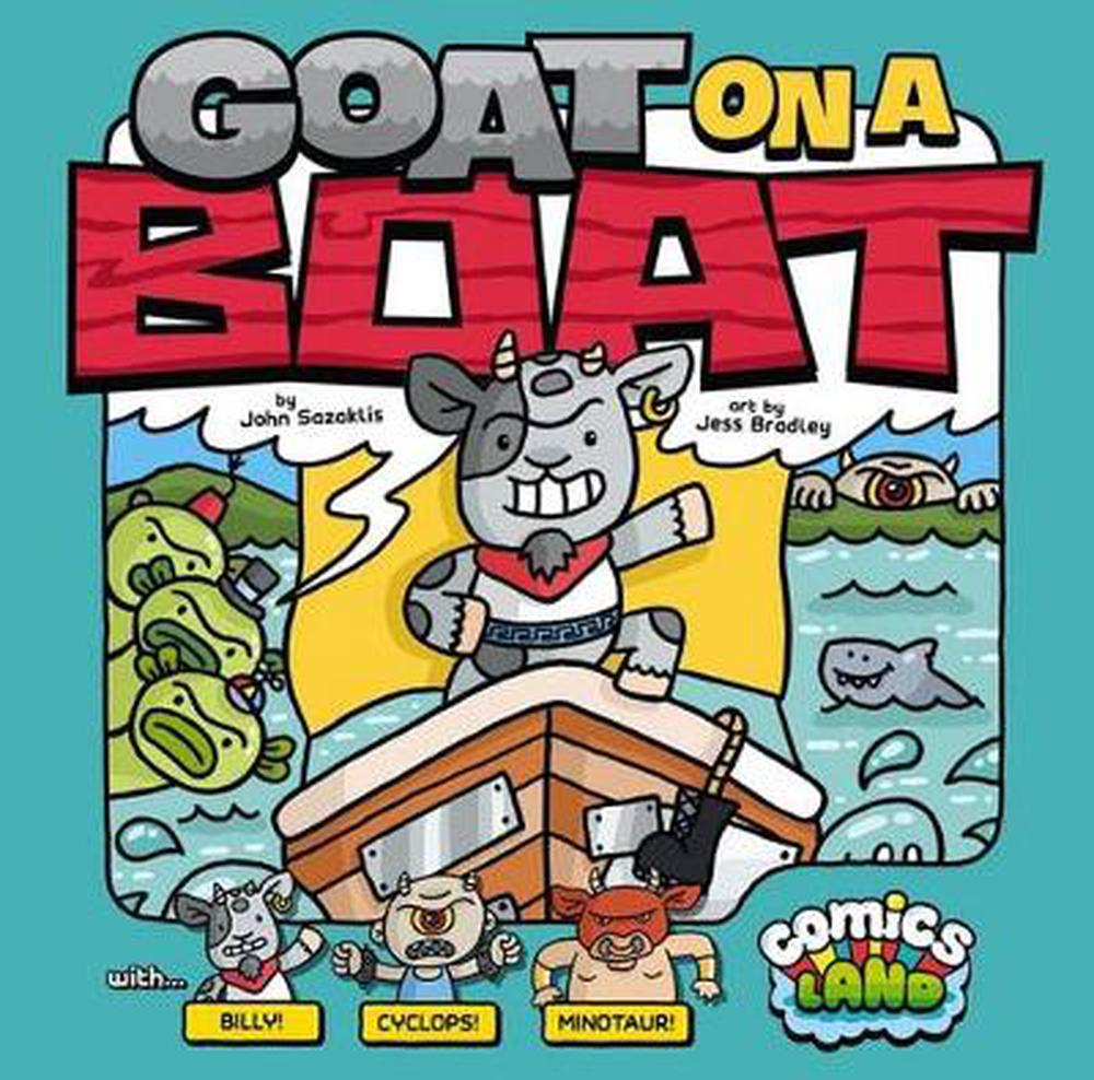 Goat On A Boat By John Sazaklis (English) Library Binding
