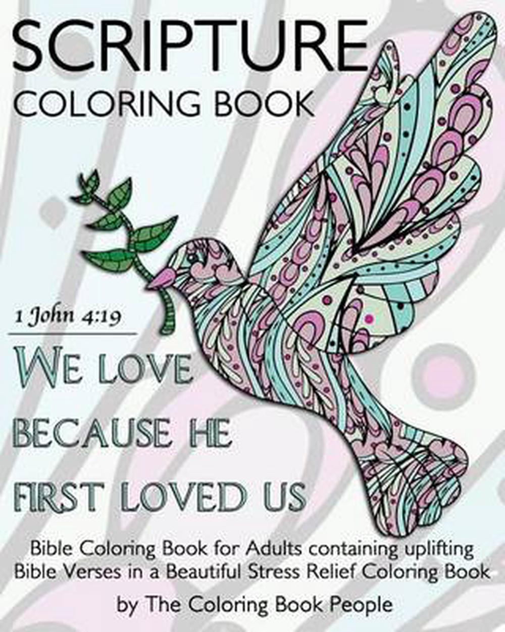 - Scripture Coloring Book: Bible Coloring Book For Adults Containing