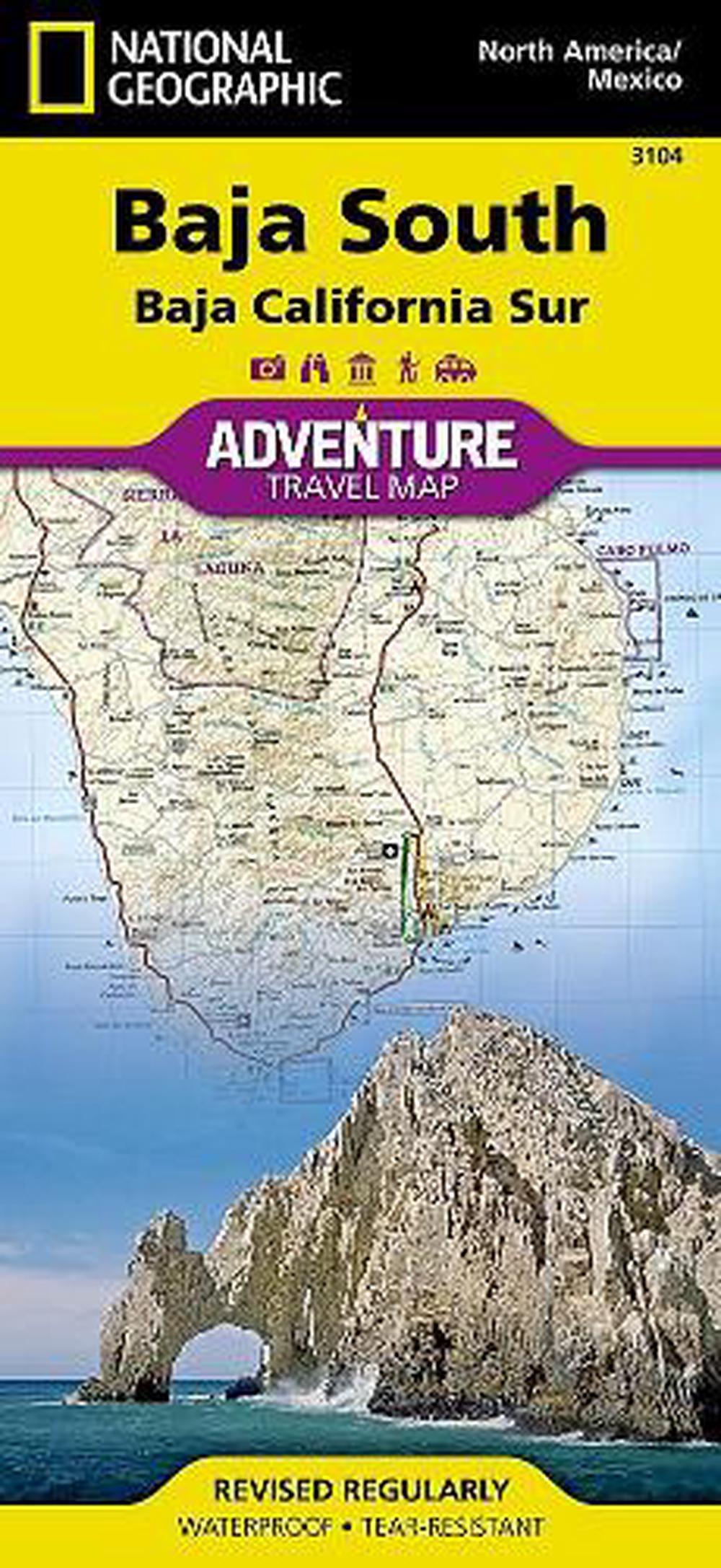 Baja South Baja California Sur Mexico Travel Maps International