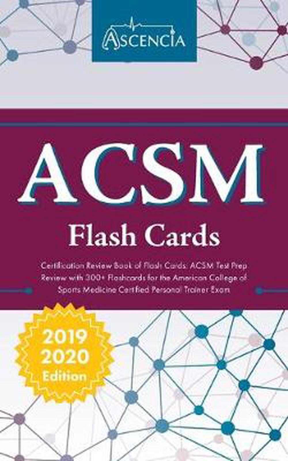 Acsm Certification Review Book Of Flash Cards Acsm Test Prep Review