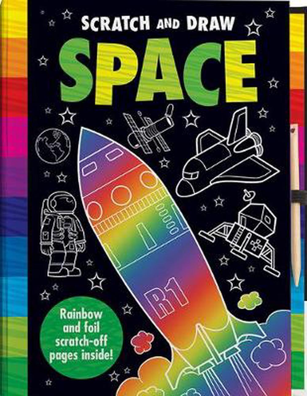Scratch and Draw Space by Joshua George Hardcover Book Free Shipping!