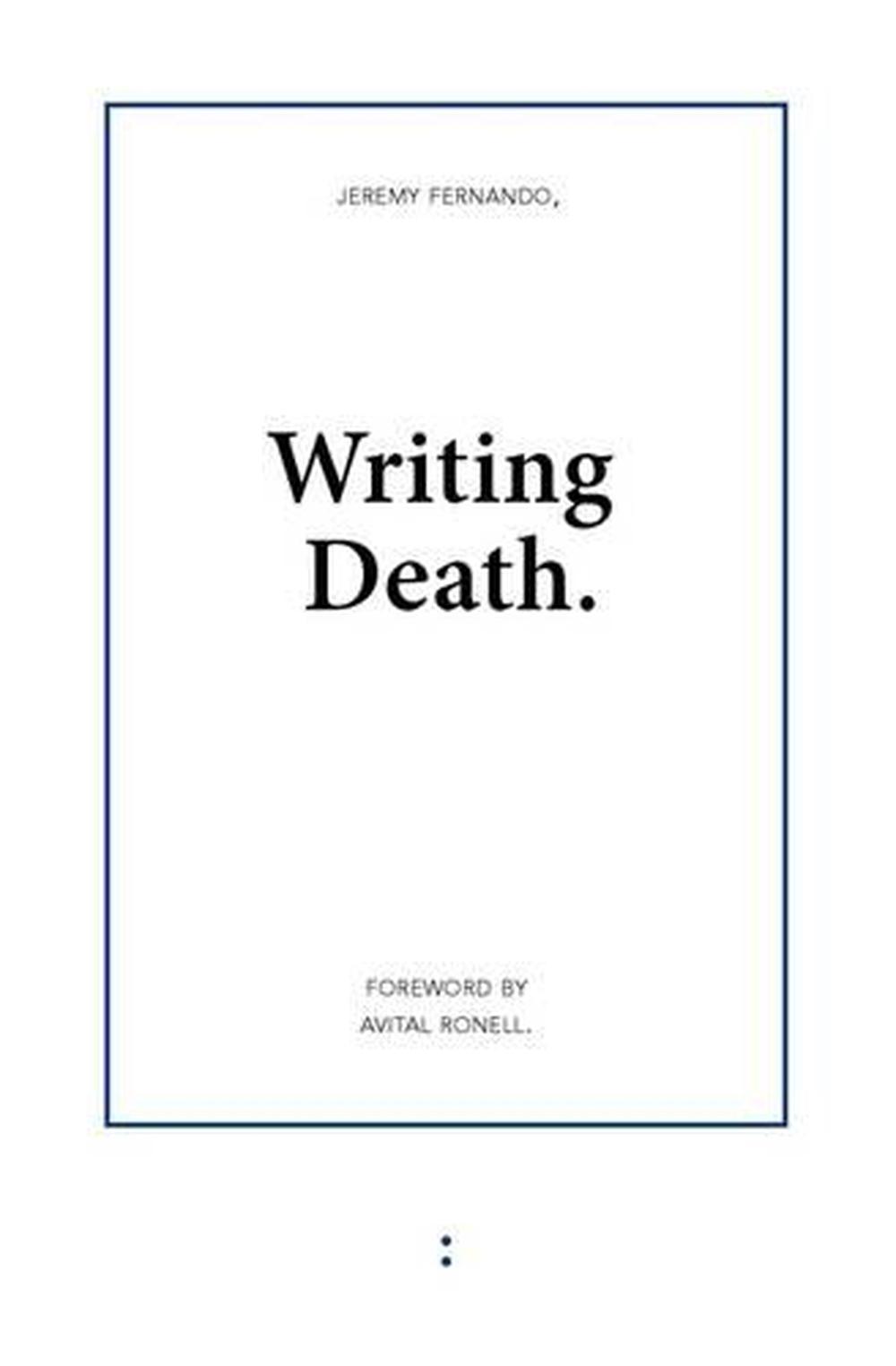Writing Death by Jeremy Fernando (English) Paperback Book